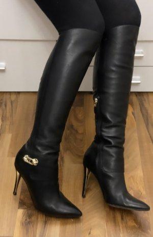 Marciano Botas con tacón negro-color oro