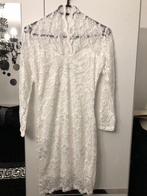 sexy elegantes kleid aus weißer spitze