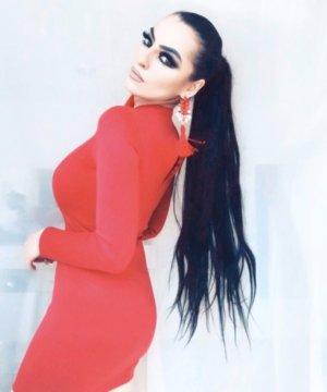 sexy elegantes minikleid in rot mit herzdekolleté