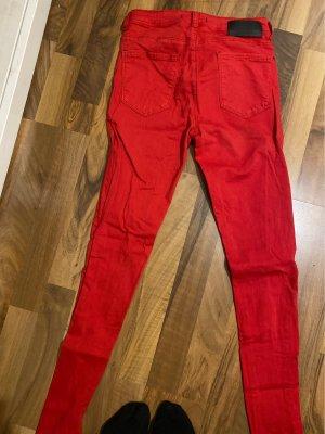 Tally Weijl Spodnie ze stretchu czerwony