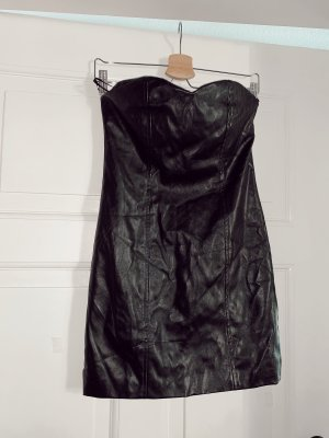 estradeur Vestido de cuero negro