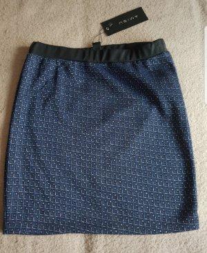 Amisu Mini rok zilver-blauw