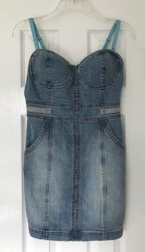 Sexy Guess Jeans Bustier Minikleid mit abnehmbaren Trägern
