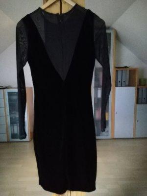 Mango Robe à manches longues noir