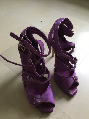 Alisha High Heels blue violet leather