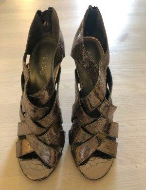 Sexy High Heels, Schlangenleder Optik, 38