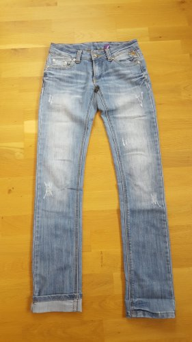 CLANDJONES Straight Leg Jeans pale blue