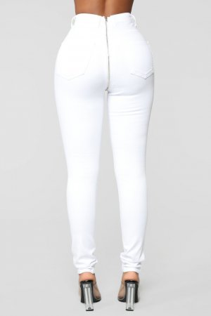 Fashion Nova Vaquero skinny blanco