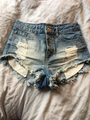 Sexy Jeans hotpants shorts  kurze Hose Festival Sommer Shorts high waist Levis look