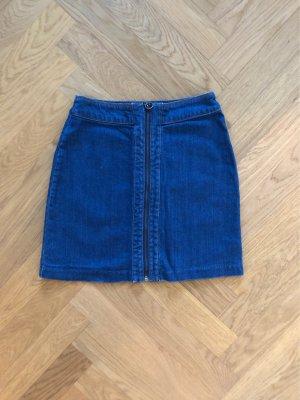 Sexy jeans Minirock mit Reißverschluss