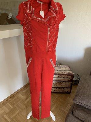 Sexy Jumpsuite/Overall - Red/Rot - Größe S/M 34/36 - FerraRi ;)