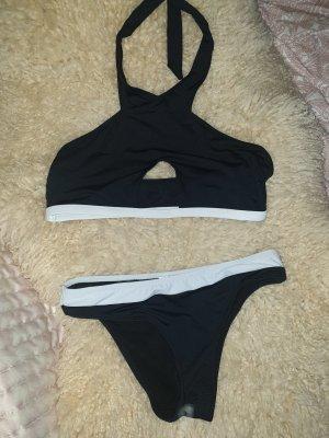 Bikini blanco-negro