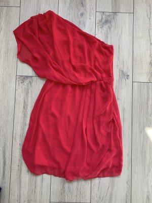 Robe asymétrique rose-rouge