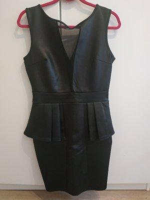 Style Plus Vestido de cuero negro
