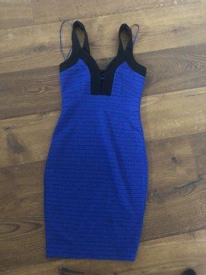 Amisu Midi-jurk blauw-zwart