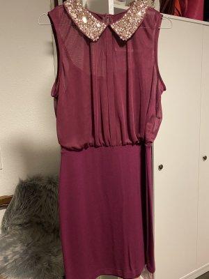 Sexy Kleid mit Pailletten Kragen