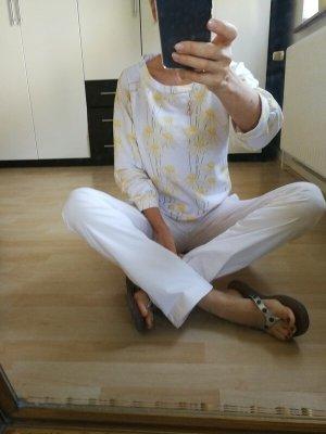 Blugirl Folies Maglione girocollo bianco-giallo pallido