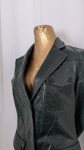 Dakota Leather Jacket forest green
