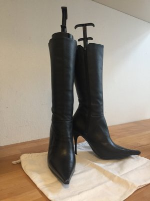 Sexy Lederstiefel, schwarz | neu