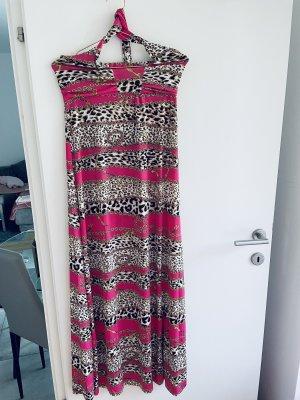 0039 Italy Vestido largo multicolor