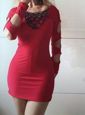 Sexy Minikleid Stretchkleid insta Blogger rot gr 38 40