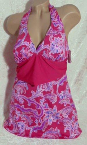 Sexy Neckholder Badekleid Mieder 42 85 E Badeanzug Pink Fantasy