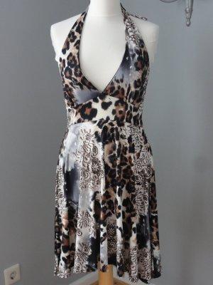 °°°Sexy Neckholder Kleid, Leopard, Schulterfrei, Rückenfrei, S, 36-38°°°