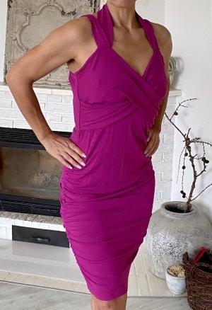 Expresso Vestido de cuello Halter violeta