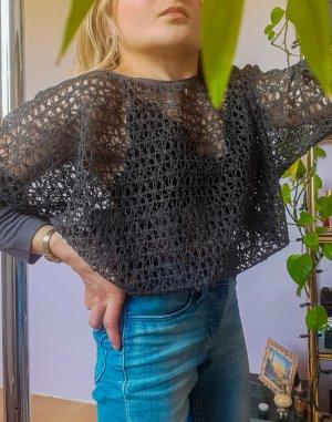 Sexy Netzshirt 3/4 Ärmel Pullover sexy Party Anlass