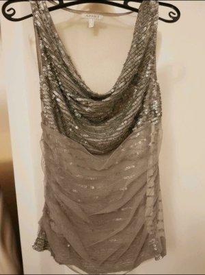 Apart Blusa trasparente argento-grigio chiaro