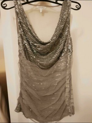 Apart Transparent Blouse silver-colored-light grey