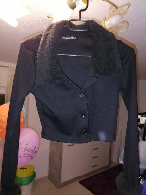 SheIn Sweat Jacket black