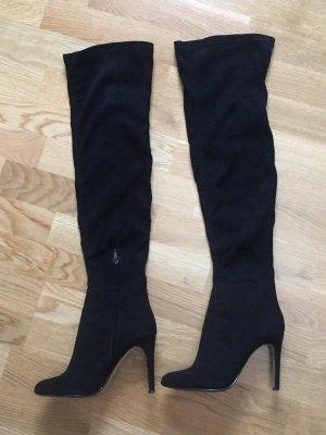 Sexy Overknee Stiefel von Mango schwarz Gr. 37 schmal schlank