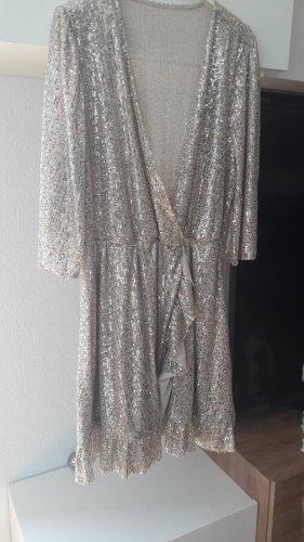 Vestido de lentejuelas color plata Poliéster