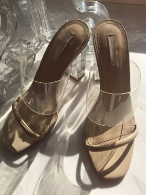 Hennes Collection by H&M Heel Pantolettes camel