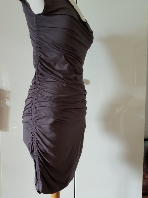 Tube Dress grey brown mixture fibre