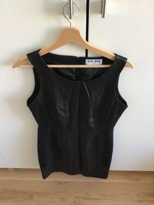 Only Robe en cuir noir