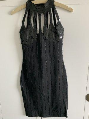 Lieblein Robe à paillettes noir