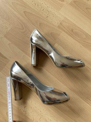 Sexy Peeptoes , Apart, ca. 10 cm, Silber, Gr. 39, NEU!