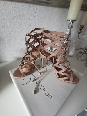 sexy Riemchen Sandaletten high heels von Topshop 39 Neu Echtes Leder