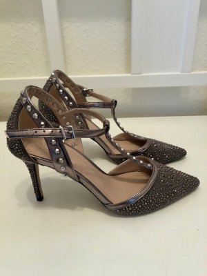 Carvela Backless Pumps black-silver-colored