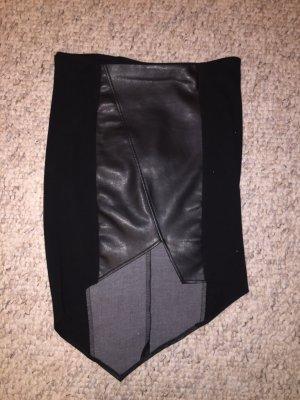 Amisu Asymetryczna spódniczka czarny