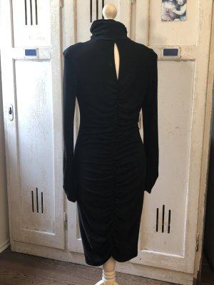 100% Fashion Abito a maniche lunghe nero Cotone