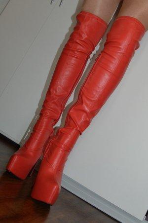 Plateauzool Laarzen rood