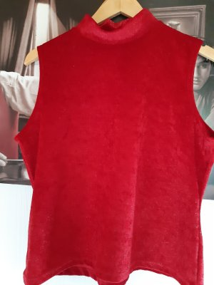 KIABI Top spalle scoperte rosso mattone