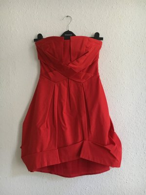 Spotlight by Warehouse Vestido bandeau rojo