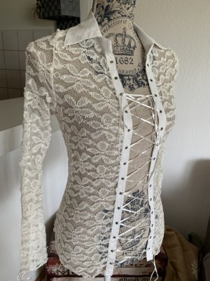 Transparante blouse wit