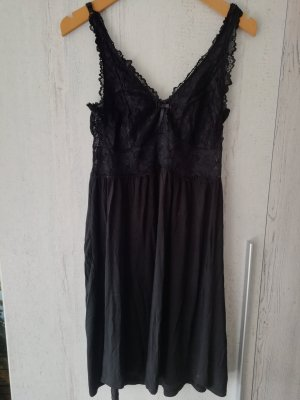 Sexy Schwarzes Nachthemd /Negligee mit Spitze Gr. M