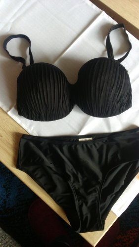 Sexy Schwarzes  Softcup Bikini-Set Gr.36/70E-Neu-Bodyflirt