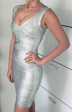 sexy silber Bandage Kleid XS 34